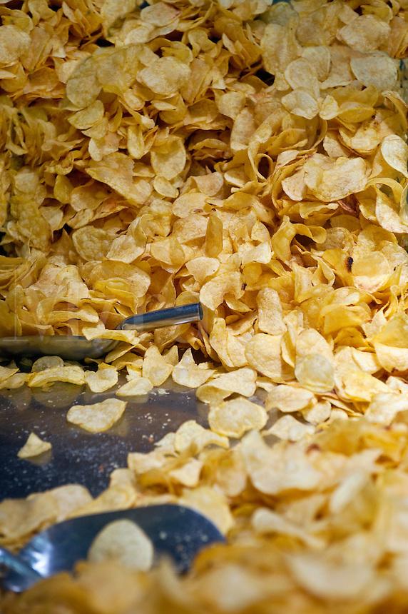 Shop offering fresh potatoe chips, Toledo, Spain