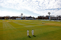 Daniel Bell-Drummond and Matt Milnes take to the field for Kent during Kent CCC vs Yorkshire CCC, LV Insurance County Championship Group 3 Cricket at The Spitfire Ground on 18th April 2021