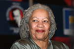 US born Nobel Prize writer Toni Morrison attends a presentation of her book Beloved at the 19th International Book Fair in Guadalajara. Morrison read a chapter of her book Beloved before a Mexican audience...Photo by Heriberto Rodriguez