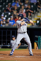 Colorado Springs Sky Sox right fielder Kirk Nieuwenhuis (33) at bat during a game against the Oklahoma City Dodgers on June 2, 2017 at Chickasaw Bricktown Ballpark in Oklahoma City, Oklahoma.  Colorado Springs defeated Oklahoma City 1-0 in ten innings.  (Mike Janes/Four Seam Images)
