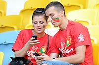 13.06.2012 LWOW - STADION ARENA LWOW ( LVIV UKRAINE STADIUM ARENA LVIV ) PILKA NOZNA ( FOOTBALL ) MISTRZOSTWA EUROPY W PILCE NOZNEJ UEFA EURO 2012 ( EUROPEAN CHAMPIONSHIPS UEFA EURO 2012 ) GRUPA B ( POOL B ) MECZ DANIA - PORTUGALIA ( GAME DENMARK - PORTUGAL ).NZ KIBICE PORTUGALIA.FOTO MICHAL STANCZYK / CYFRASPORT/NEWSPIX.PL.---.Newspix.pl