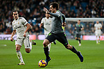 Real Madrid's Lucas Vazquez and Real Sociedad's Mikel Oyarzabal during La Liga match between Real Madrid and Real Sociedad at Santiago Bernabeu Stadium in Madrid, Spain. January 06, 2019. (ALTERPHOTOS/A. Perez Meca)<br />  (ALTERPHOTOS/A. Perez Meca)