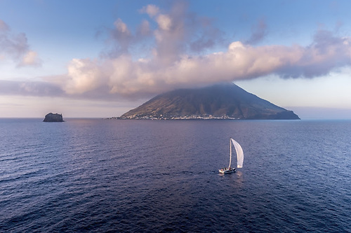 The race takes in the active volcanoes of Etna and Stromboli and a myriad of islands
