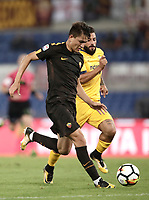 Calcio, Serie A: Roma, stadio Olimpico, 16 settembre 2017.<br /> Roma's Cengiz Under in action during the Italian Serie A football match between AS Roma and Hellas Verona at Rome's Olympic stadium, September 16, 2017.<br /> UPDATE IMAGES PRESS/Isabella Bonotto