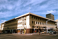 """San Diego: The Golden West Hotel. Harrison Albright, 1913 but """"International Style by John Lloyd Wright who worked for Albright."""" 720 Fourth Ave., reinforced concrete."""
