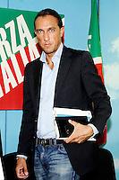 """Claudio Pedrazzini <br /> Milano 20/09/2013 Viale Monza<br /> conferenza stampa 'Da Pdl a Forza Italia' <br /> Press conference """"From PDL to Forza Italia"""" <br /> foto Andrea Ninni/Image/Insidefoto"""