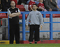 28/08/2007       Copyright Pic: James Stewart.File Name : sct_jspa12_stirling_v_hearts.STIRLING MANAGER ALAN MUIR WATCHES AS HIS TEAM PUT UP A SPIRITED FIGHT AGAINST HEARTS.James Stewart Photo Agency 19 Carronlea Drive, Falkirk. FK2 8DN      Vat Reg No. 607 6932 25.Office     : +44 (0)1324 570906     .Mobile   : +44 (0)7721 416997.Fax         : +44 (0)1324 570906.E-mail  :  jim@jspa.co.uk.If you require further information then contact Jim Stewart on any of the numbers above........