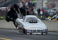Oct. 6, 2012; Mohnton, PA, USA: NHRA funny car driver Jack Beckman during qualifying for the Auto Plus Nationals at Maple Grove Raceway. Mandatory Credit: Mark J. Rebilas-