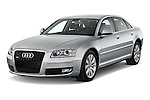 Front three quarter view of a 2010 Audi A8 4 Door Sedan 4WD