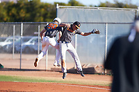 Allen Chatfield (49), from Hayden, Idaho, while playing for the Giants during the Under Armour Baseball Factory Recruiting Classic at Gene Autry Park on December 30, 2017 in Mesa, Arizona. (Zachary Lucy/Four Seam Images)