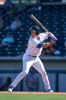Mesa Solar Sox first baseman Jason Vosler (22), of the Chicago Cubs organization, at bat during a game against the Surprise Saguaros on October 20, 2017 at Sloan Park in Mesa, Arizona. The Solar Sox walked-off the Saguaros 7-6.  (Zachary Lucy/Four Seam Images)