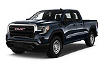 2019 GMC Sierra-1500 WT 4 Door Pick-up Angular Front stock photos of front three quarter view