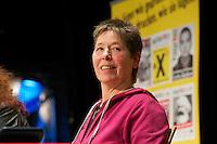 """16. Rosa Luxemburg-Konferenz der linken Tageszeitung """"junge Welt"""".<br /> Am Samstag den 7. Januar 2011 veranstaltete die linke Tageszeitung """"junge Welt"""" ihre traditionelle Rosa Luxemburg-Konferenz. Teilnehmerinnen bei der Abschlussdiskussion waren u.a die Parteivorsitzender der Linkspartei Die LINKE. Gesine Loetzsch; die Linkspartei-MdB Ulla Jelpke, die Vorsitzende der Deutschen Kommunistishen Partei DKP, Bettina Juergensen ; das ehemalige RAF-Mitglied Inge Viet (im Bild) und Katrin Dornheim, Betriebsratsvorsitzende bei der Deutschen Bahn AG in Berlin.<br /> 8.1.2011, Berlin<br /> Copyright: Christian-Ditsch.de<br /> [Inhaltsveraendernde Manipulation des Fotos nur nach ausdruecklicher Genehmigung des Fotografen. Vereinbarungen ueber Abtretung von Persoenlichkeitsrechten/Model Release der abgebildeten Person/Personen liegen nicht vor. NO MODEL RELEASE! Don't publish without copyright Christian-Ditsch.de, Veroeffentlichung nur mit Fotografennennung, sowie gegen Honorar, MwSt. und Beleg. Konto:, I N G - D i B a, IBAN DE58500105175400192269, BIC INGDDEFFXXX, Kontakt: post@christian-ditsch.de]"""
