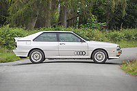 BNPS.co.uk (01202) 558833. <br /> Pic: SilverstoneAuctions/BNPS<br /> <br /> Fire up the price tag...<br /> <br /> This immaculate Audi Quattro got collectors of 'modern classic' cars all fired up - as it sold for a record-breaking price of £163,125.<br /> <br /> The iconic eighties motor was believed to be the last one ever manufactured by the German car giant when it rolled off the production line in 1991.<br /> <br /> The UR Quattro 20V has had just two owners in its 30 year life and has just 9,700 miles on the clock.<br /> <br /> As a result the pearly white vehicle proved highly desirable when it went under the hammer.