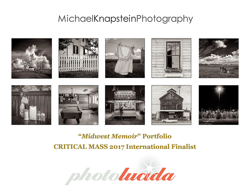 "I just learned today that my ""Midwest Memoir"" portfolio was selected as a Photolucida Critical Mass 2017 Finalist! I am honored that my portfolio was judged to be among the Top 200 in the world. Congratulations to all of the talented photographers on the list! #awardwinners #finalists #top200 #CriticalMass #CriticalMassTop200 #photolucida #contemporaryphotography #emergingartist #emergingphotographer #tellyourfriends"