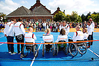 15-09-12, Netherlands, Amsterdam, Tennis, Daviscup Netherlands-Suisse, to honour paralytic tennis players