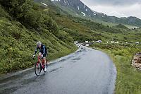Mads Pedersen (DEN/Trek-Segafredo) up the Cormet de Roselend<br /> <br /> Stage 9 from Cluses to Tignes (144.9km)<br /> 108th Tour de France 2021 (2.UWT)<br /> <br /> ©kramon