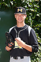 Pitcher Hunter Green #11 of Warren East High School in Kentucky poses for a photo before participating in the Under Armour All-American Game powered by Baseball Factory at Wrigley Field on August 18, 2012 in Chicago, Illinois.  (Mike Janes/Four Seam Images)