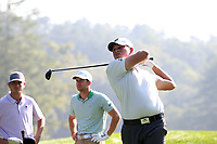 SAPPHIRE, NC - OCTOBER 01: Benjamin Resnick of Stetson University tees off at The Country Club of Sapphire Valley on October 01, 2019 in Sapphire, North Carolina.