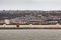 Swansea Marina and Mount Pleasant and Townhill in the background, Wales, UK. Tuesday 19 February 2019