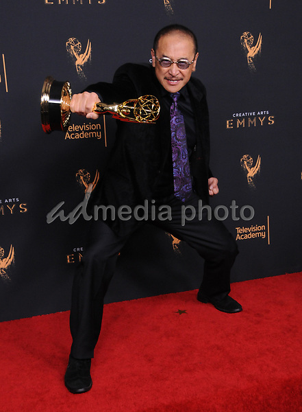 10 September  2017 - Los Angeles, California - James Lew. 2017 Creative Arts Emmys - Press Room held at Microsoft Theatre L.A. Live in Los Angeles. Photo Credit: Birdie Thompson/AdMedia
