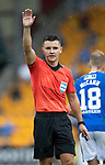 St Johnstone v Motherwell…08.08.21  McDiarmid Park<br />Referee Nick Walsh<br />Picture by Graeme Hart.<br />Copyright Perthshire Picture Agency<br />Tel: 01738 623350  Mobile: 07990 594431