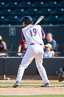 Nick Basto (19) of the Winston-Salem Dash at bat against the Wilmington Blue Rocks at BB&T Ballpark on July 6, 2014 in Winston-Salem, North Carolina.  The Dash defeated the Blue Rocks 7-1.   (Brian Westerholt/Four Seam Images)