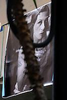 CorpusTRIP ,esposizione in un cortile del quartiere di San Lorenzo a Roma. .Lola Kola, artista, è una delle persone ritratte dal fotografo. Lola Kola, artist, is one of the people portrayed by the photographer..CorpusTRIP è un progetto itinerante, esposizione temporanea, in diverse città , evento di una sola notte in uno spazio non specificatamente adibito, occupato o abbandonato. E' il lavoro fotografico di ritratti in bianco e nero ,di  Luca Donnini..CorpusTRIP is a touring exhibition, temporary exhibitions, in different city, an event one night in a space not specifically used, occupied or abandoned. It's the photographic work of black and white portraits of Luca Donnini..