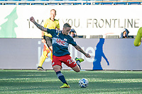 FOXBOROUGH, MA - SEPTEMBER 19: Alexander Buttner #28 of New England Revolution during a game between New York City FC and New England Revolution at Gillette on September 19, 2020 in Foxborough, Massachusetts.