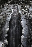 Bridalveil Falls in winter, Hwy 50