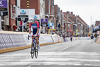 Anthony Turgis (FRA/Total Direct Energie) crossing the finish line as 9th<br /> <br /> 83rd Gent-Wevelgem - in Flanders Fields (ME - 1.UWT)<br /> 1 day race from Ieper to Wevelgem (BEL): 254km<br /> <br /> ©kramon