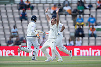 Neil Wagner, New Zealand appeals in vain as the batsmen cross for runs during India vs New Zealand, ICC World Test Championship Final Cricket at The Hampshire Bowl on 23rd June 2021