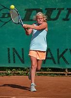 August 4, 2014, Netherlands, Dordrecht, TC Dash 35, Tennis, National Junior Championships, NJK,  Milou Goetheer (NED)<br /> Photo: Tennisimages/Henk Koster