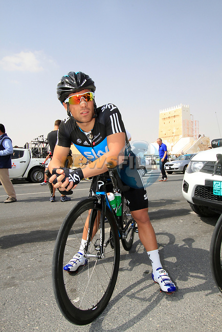 Davide Appollonio (ITA) Sky Procycling before the start of Stage 1 of the Tour of Qatar 2012 running 142.5km from Barzan Towers to Doha Golf Club, Doha, Qatar. 5th February 2012.<br /> (Photo by Eoin Clarke/NEWSFILE).