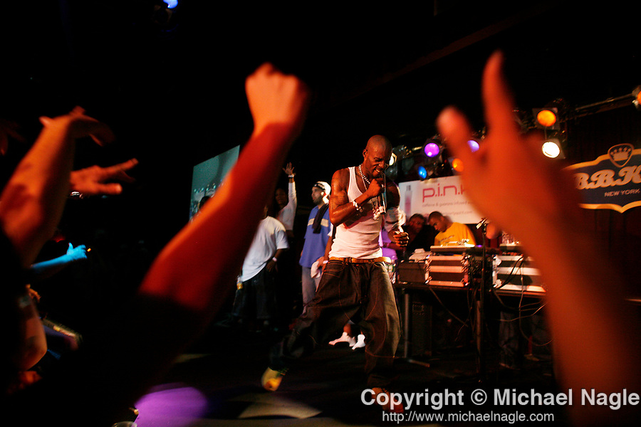 NEW YORK - JULY 23:   Earl Simmons, the rapper known as DMX, performs at BB King's in Times Square on July 23, 2006 in New York City.  (Photo by Michael Nagle for The New York Times)