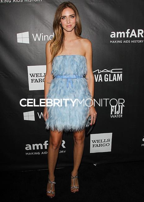 HOLLYWOOD, LOS ANGELES, CA, USA - OCTOBER 29: Chiara Ferragni arrives at the 2014 amfAR LA Inspiration Gala at Milk Studios on October 29, 2014 in Hollywood, Los Angeles, California, United States. (Photo by Celebrity Monitor)