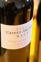 Maury Vin Doux Naturel. Domaine Calvet Thunevin. Roussillon, France