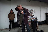 """Los Angeles, California<br /> January 30, 2014<br /> <br /> Known on the streets of Hollywood as """"Cat"""", 53 yr old, homeless Navy veteran Christopher Gill is in contact with  PATH outreach workers regularly. It is unlikely that he will come off the streets even if he was eligible for a HUD Vash voucher."""