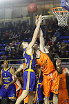 Montakit Fuenlabrada's Ian O'Leary (r) and Herbalife Gran Canaria's Xavi Rabaseda during Eurocup, Top 16, Round 2 match. January 10, 2017. (ALTERPHOTOS/Acero)