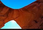 Honeymoon Arch and Honeymoon House Anasazi Ruins, Mystery Valley, Monument Valley Navajo Tribal Park, Navajo Nation Reservation, Utah/Arizona Border
