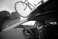 DS/manager John Herety (GBR) behind the wheel<br /> <br /> 2013 Tour of Britain<br /> stage 4: Stoke-on-Trent to Llanberis (188km)