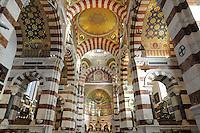 - Marsiglia, interno della basilica di Notre-Dame de la Garde....- Marseille, interior of the basilica of Notre-Dame de la Garde