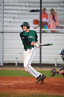 Dartmouth Big Green pinch hitter Sean McGowan (40) at bat during a game against the Southern Maine Huskies on March 23, 2017 at Lake Myrtle Park in Auburndale, Florida.  Dartmouth defeated Southern Maine 9-1.  (Mike Janes/Four Seam Images)