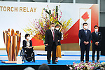 Aki Taguchi, Mikio Date, Satomi Ishihara, Takeshi Tomizawa and Tadahiro Nomura participates in <br /> The Grand Start Ceremony for the Tokyo 2020 Olympic Torch Relay at Fukushima National Training Center J-Village on March 25, 2021, in Fukushima Prefecture, Japan.<br /> The Torch Relay will last 121 days and visit all of Japan's 47 prefectures. (Photo by Naoki Morita/AFLO SPORT)