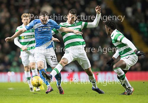 Celtic v St Johnstone…25.01.17     SPFL    Celtic Park<br />Chris Kane and Nir Bitton<br />Picture by Graeme Hart.<br />Copyright Perthshire Picture Agency<br />Tel: 01738 623350  Mobile: 07990 594431
