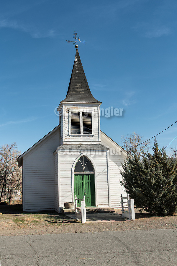 Historic Wadsworth Union Church, Wadsworth, Nevada.