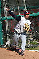 April 11, 2005:  Pitcher Yusmerio Petit of the Binghamton Mets during a game at Jerry Uht Park in Erie, PA.  Binghamton is the Eastern League Double-A affiliate of the New York Mets.  Photo by:  Mike Janes/Four Seam Images