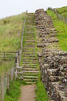 Cumbria, England, UK.  Hadrian's Wall at Willowford Farm, near Gilsland.