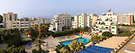 Panoramic view on buildings and hotels on the Mediterranean sea shore. Limassol, Cyprus, Navarria hotel. Image © MaximImages, License at https://www.maximimages.com