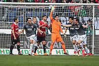 Gojko Kacar (FC Augsburg #20) left scores 1:2<br /><br /><br /><br />, Hannover 96 - FC Augsburg, Football, Bundesliga, 10.03.2018 *** Local Caption *** © pixathlon<br /> Contact: +49-40-22 63 02 60 , info@pixathlon.de